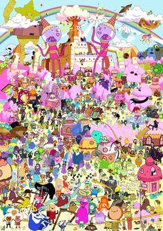 Adventure time Poster High Quality Cartoon Wall Art by Plexxi Adventure Time Poster, Adventure Time Tumblr, Adventure Time Funny, Adventure Time Tattoo, Adventure Time Wallpaper, Adventure Time Characters, Adventure Time Marceline, Adventure Time Princesses, Time Cartoon