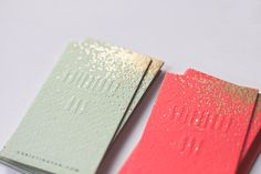 sparkly business cards |
