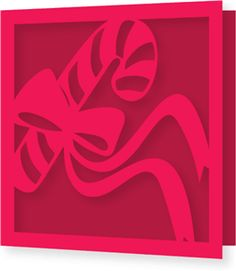 Silhouette Design Store - View Design #34738: candy cane ribbon cutout single fold square card