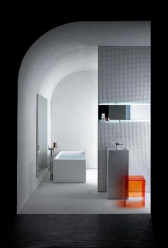 Bathroom project by Laufen. It a new dialogue. And despite involving semantically opposite universes, it is based on agreeing on... #Bathroom #design #homedecor #designjunction