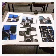 Prints on the drying rack