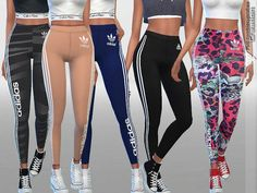 Created By Pinkzombiecupcakes Designer Sporty Leggings Collection 01 Created for: The Sims 4 Available in 10 styles and colors. Sims Four, Sims 4 Cas, Sims Cc, Beste Leggings, Pelo Sims, The Sims 4 Cabelos, Sims4 Clothes, Sims 4 Dresses, Sims 4 Gameplay