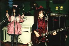 Rose and Jill at the first Strawberry Switchblade gig, december 1981, Glasgow. pic by Peter MacArthur.