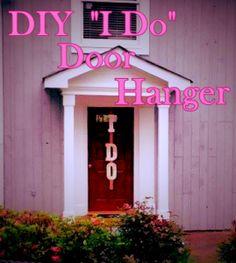 Glitter I DO Door Hanger - perfect for weddings, wedding shower, bachelorette parties, rehearsal dinner, etc