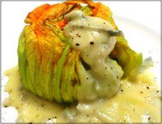 Tortino ai fiori di zucca con risotto alle zucchine su fonduta di gorgonzola… Quando dal nulla puoi creare di tutto! – …con la Sicilia nel Cuore!