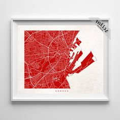 Large detailed map of Aarhus Maps Pinterest Aarhus