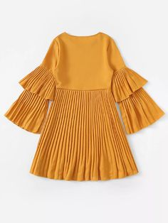 would use as a top- Pleated Dress-romwe- White Dress Outfit, Dress Outfits, Fashion Dresses, Casual Day Dresses, Casual Outfits, Purple Bodycon Dresses, Modern Hijab Fashion, Baby Girl Party Dresses, Mode Hijab