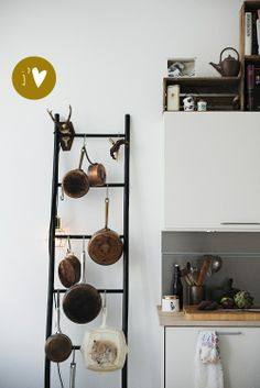 ladder to hang pots