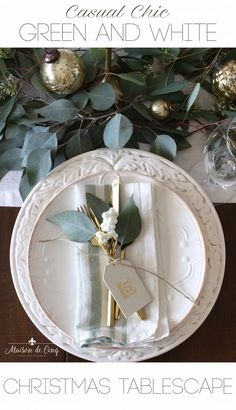 Casual Chic Christmas Table in Green and White! Casual Chic Christmas Table in Green and White! Aussie Christmas, Australian Christmas, Nordic Christmas, Green Christmas, All Things Christmas, Christmas Home, Christmas Holidays, Christmas 2019, Classy Christmas