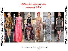 Confira no blog Universo da Moda & Cia., fashion looks das passarelas e das famosas com aplicações e texturas, para você se inspirar.
