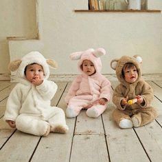 Baby Romper Animal Onesie Fleece Coat Bear Rabbit Sheep Winter Warm Coat Clothes   eBay