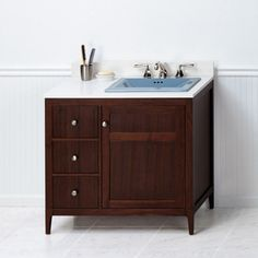 Ronbow 051736-3 Briella 36 in. Single Bathroom Vanity with Undermount Sink Biscuit Broad Black