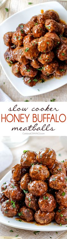4 Points About Vintage And Standard Elizabethan Cooking Recipes! Tender Juicy Slow Cooker Honey Buffalo Meatballs Simmered In The Most Tantalizing Sweet Heat Sauce That Everyone Goes Crazy For Perfect Appetizer Or Delicious, Easy Meal With Rice Crock Pot Slow Cooker, Slow Cooker Recipes, Crockpot Recipes, Cooking Recipes, Crock Pots, Slow Cooking, Buffalo Meatballs, Albondigas, Comfort Food