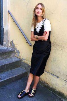 Slip Dress Over T-shirt