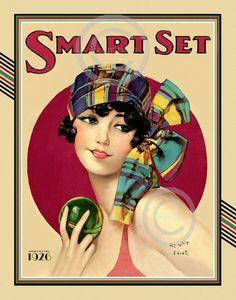 Gorgeous Art Deco Print Henry CliveRare door DragonflyMeadowsArt
