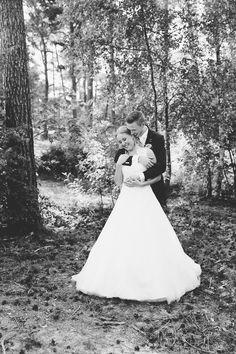 Bruidspaar tijdens shoot Henschotermeer