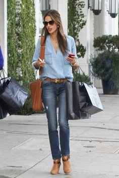 Alessandra Ambrosio wearing Hermes Soleil Evelyne PM Shoulder Bag