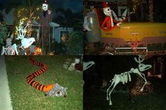 Nightmare Before Christmas decor love the snake garbage bad and duck tape?