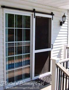 Sliding screen door like a barn door!