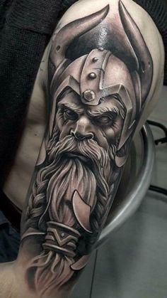 Celtic Tattoo For Women, Viking Tattoos For Men, Viking Warrior Tattoos, Celtic Tattoo Symbols, Norse Tattoo, Celtic Tattoos, Sleeve Tattoos For Women, Tattoos For Guys, Tattoo Guys