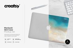 Macbook Skin Case Mockup by Creatsy on creativemarket