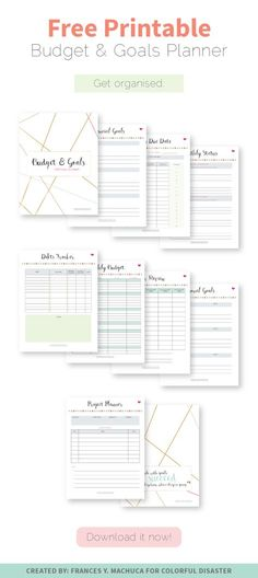 Budget Planner, Finance Printables, Daily Planner, Bill Tracker