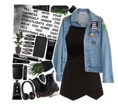"""""""#164 - Too Wild To Sleep, Too Tired To Care"""" by lolohohokoko ❤ liked on Polyvore featuring beauty, High Heels Suicide, Parisian, Lux-Art Silks, Dr. Martens, Givenchy, Beats by Dr. Dre, Clips, NARS Cosmetics and Ardency Inn"""