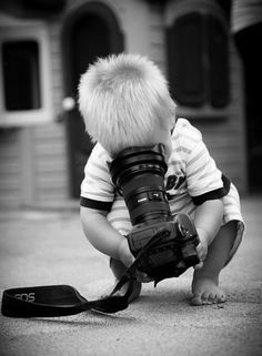 I guess this one doesn't technically belong here. It's here for two reasons though. 1) it makes me cringe thinking about that expensive equipment in the hands of a toddler 2) despite this, I bet you that toddler takes better pictures than half the 'photographers' out there today