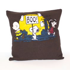 Charlie Brown Halloween Pillow