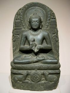 Buddha in Gesture of Teaching, India, 800s-900s, Stone. Denver Art Museum, Colorado, USA
