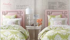 love the texture of the walls. use natural linen for ella russell's headboard?  pale pink walls?