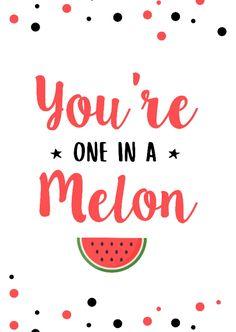 Zomaarkaart meloen stippen - Zomaar kaarten One In A Melon, Love Me Quotes, Summer Kids, Love You, My Love, Art For Kids, Birthday Cards, Funny Quotes, Bullet Journal