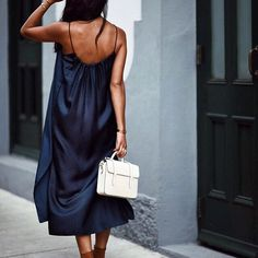 A flowy silk dress is a must have for Summer nights!