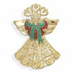 Gold Angel Pin