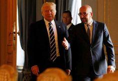 On Trip Abroad, Trump Stays On Script, But Will It Last?