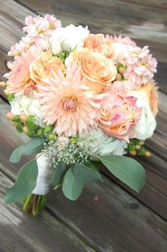 Peach Bouquet - Serendipity Floral