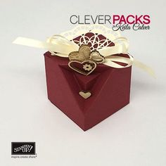 Love Week Day One – Little Platform Gift Box with Stampin' Up! – CLEVERPACKS by Keila Calver
