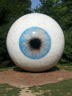Eyeball Laumeier Sculpture park in St. Louis, MI, USA  I don't get this sculpture . . . But couldn't resist adding to my artsy-eye collection . . .