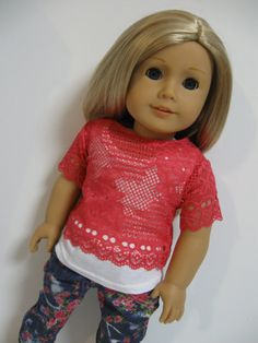 American+Girl+Doll++Floral+and+Lace+by+123MULBERRYSTREET+on+Etsy