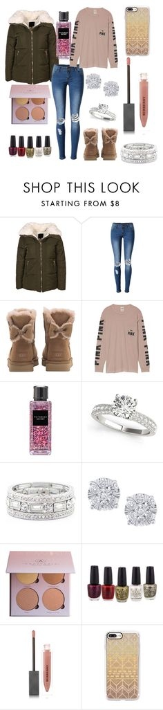 """""""Comf"""" by fnmilfor ❤ liked on Polyvore featuring New Look, WithChic, UGG, Victoria's Secret, Sole Society, Effy Jewelry, Burberry and Casetify"""