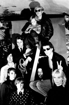 The Velvet Underground with Andy Warhol, Gerard Malanga, Mary Woronov, and Nico's son Ari at the Factory photographed by Billy Name, 1966 Andy Warhol, Beatles Songs, The Beatles, Woodstock, Maureen Tucker, Rock Bands, Hard Rock, Billy Name, The Velvet Underground
