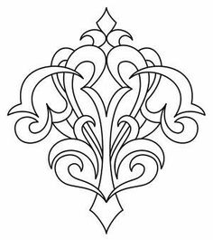 Trendy Embroidery Designs By Hand Urban Threads Coloring Pages Ideas Paper Embroidery, Hand Embroidery Designs, Embroidery Patterns, Filigranes Design, Design Elements, Pattern Design, Leather Carving, Leather Tooling, Urban Threads
