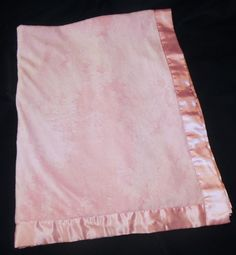 94de46bce8 Baby by Carters Pink Plush Velour Blanket Satin Edge Trim Back 28