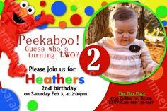 Elmos World Birthday Invitation