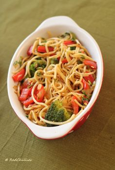 Simple Noodles with vegetables