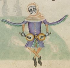 Detail from The Luttrell Psalter, British Library Add MS 42130 (medieval manuscript,1325-1340), f176r