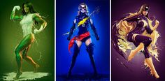 Famous superheroines wearing suits made of liquid paint look really cool  London-based photographer Jaroslav Wieczorkiewicz created this badass 2015 calendar featuring pictures of beautiful superheroines wearing impossible liquid suits, including Captain Marvel, She-Hulk, or Catwoman. [NSFW-ish]