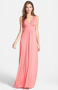V-Neck Stretch Knit Maxi Dress (Regular & Petite)