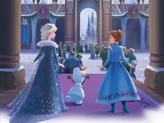 Elsa, Olaf, & Anna from Disney's Olaf's Frozen Adventure Frozen Book, Frozen Art, Olaf Frozen, Elsa Olaf, Frozen 2013, Disney Princess Frozen, Disney Princess Pictures, Disney Pictures, Disney Olaf