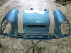 41617067754 02-08 Mini Cooper S Hood, Scoop and Grille Electric Blue R52 R53 80
